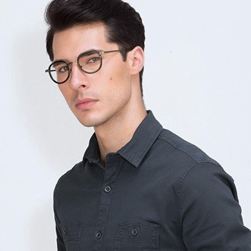 Black Bourgeois M -  Fashion Metal Eyeglasses - model image