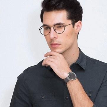 Black Come Around -  Geek Metal Eyeglasses - model image