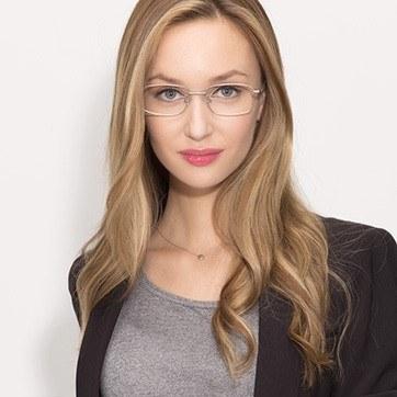 Silver Bryce -  Metal Eyeglasses - model image