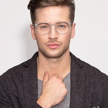 Gunmetal Thin Line -  Fashion Metal Eyeglasses - model image