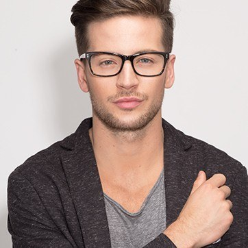 Tortoise Ridge -  Fashion Acetate Eyeglasses - model image