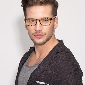 Brown/Tortoise Mandi -  Classic Acetate Eyeglasses - model image