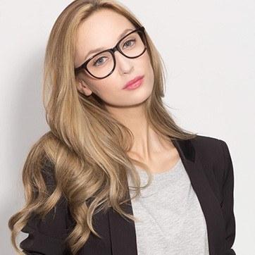 Brown/Tortoise Anahi -  Fashion Acetate Eyeglasses - model image