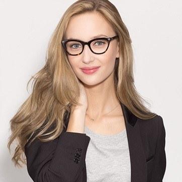 Tortoise Ellie -  Classic Acetate Eyeglasses - model image
