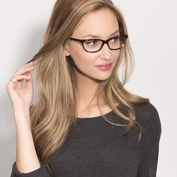 Tortoise Maya -  Fashion Acetate Eyeglasses - model image