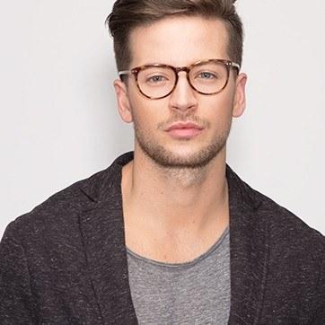 Tortoise Fiction -  Fashion Acetate Eyeglasses - model image
