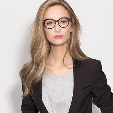 Tortoise Glarus -  Fashion Acetate Eyeglasses - model image
