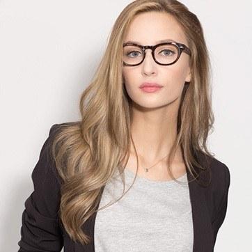 Tortoise Genesis -  Fashion Acetate Eyeglasses - model image