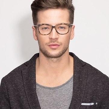 Matte Tortoise Escapee -  Fashion Acetate Eyeglasses - model image