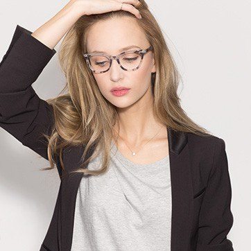 Gray Ellie -  Fashion Acetate Eyeglasses - model image