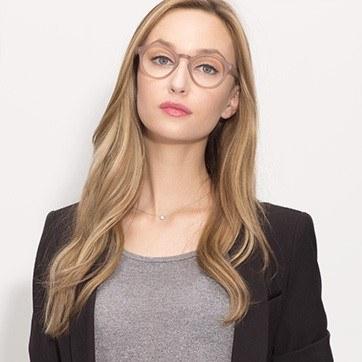 Matte Brown  Dreamy -  Geek Acetate Eyeglasses - model image