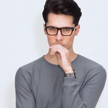 Tortoise Eastwood -  Geek Acetate Eyeglasses - model image