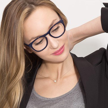 Navy Providence S -  Classic Acetate Eyeglasses - model image