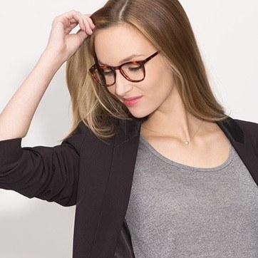 Tortoise Providence S -  Fashion Acetate Eyeglasses - model image
