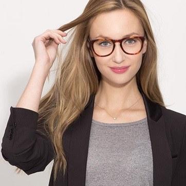 Tortoise Providence M -  Classic Acetate Eyeglasses - model image