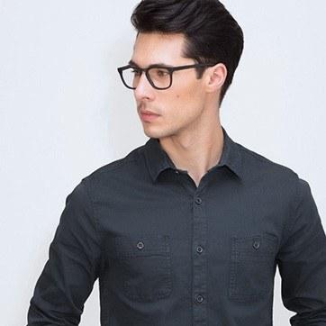 Matte Black Rhode Island M -  Geek Acetate Eyeglasses - model image