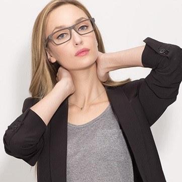 Coffee Emory M -  Classic Eyeglasses - model image