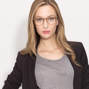 Taupe Flume M -  Fashion Acetate Eyeglasses - model image