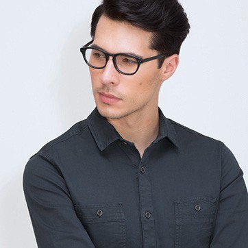 Dark Green Little Things -  Fashion Acetate Eyeglasses - model image