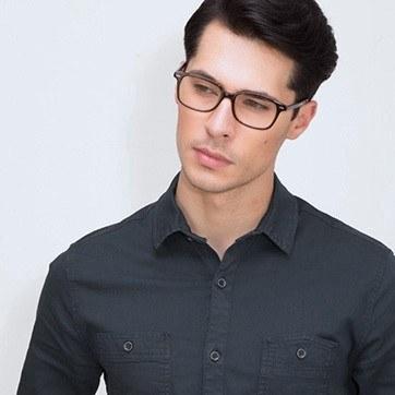 Brown Sway -  Acetate Eyeglasses - model image