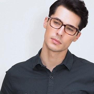 Tortoise Sway -  Acetate Eyeglasses - model image