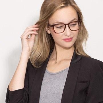 Brown Samson -  Acetate Eyeglasses - model image