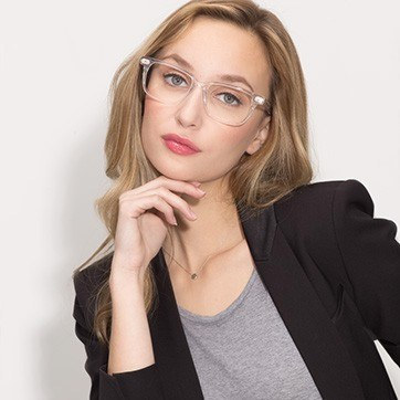 Clear Pacific -  Acetate Eyeglasses - model image