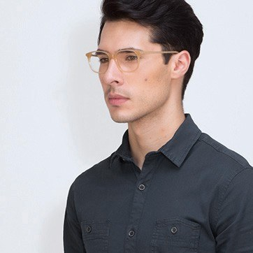 Brown The Bay -  Acetate Eyeglasses - model image