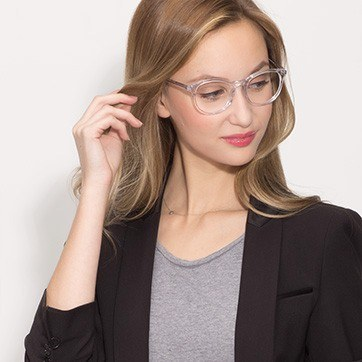 Clear Primrose -  Acetate Eyeglasses - model image