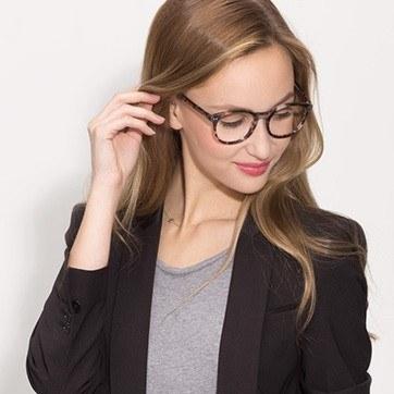 Ivory Tortoise Primrose -  Acetate Eyeglasses - model image