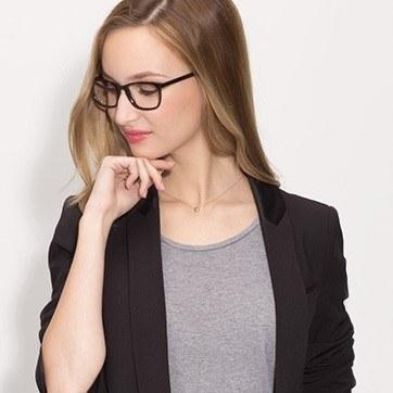 Tortoise Wildfire -  Fashion Acetate Eyeglasses - model image