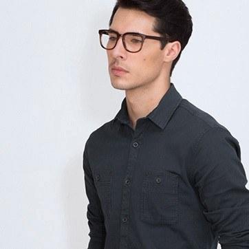 Brown Sail -  Acetate Eyeglasses - model image