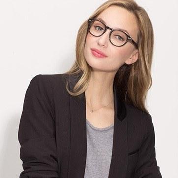 Dark Gray The Loop -  Geek Acetate Eyeglasses - model image