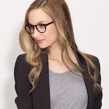 Tortoise The Loop -  Geek Acetate Eyeglasses - model image