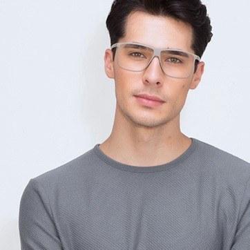 Light Green  Deluxe -  Fashion Plastic Eyeglasses - model image