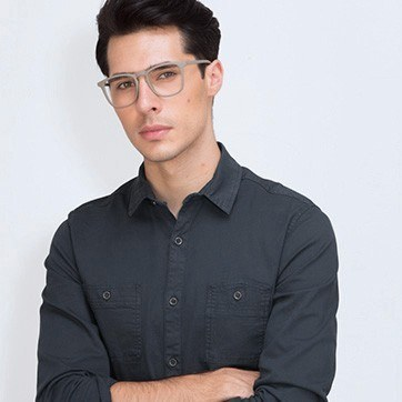 Matte Green  Central -  Plastic Eyeglasses - model image