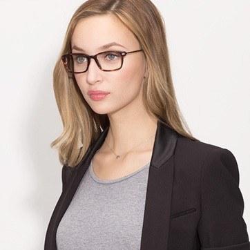 Tortoise Dreamer -  Designer Acetate Eyeglasses - model image