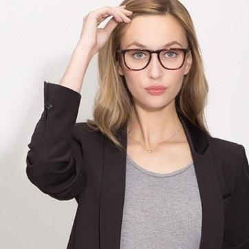 Tortoise Planes -  Geek Acetate Eyeglasses - model image