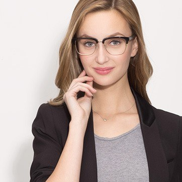 Black Arcade -  Designer Acetate Eyeglasses - model image