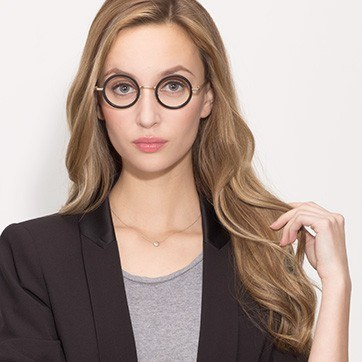 Black Roaring -  Designer Acetate Eyeglasses - model image