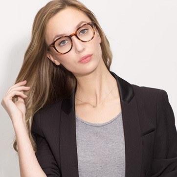 Tortoise Vendome -  Geek Acetate Eyeglasses - model image