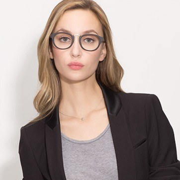 Black Micor -  Acetate Eyeglasses - model image