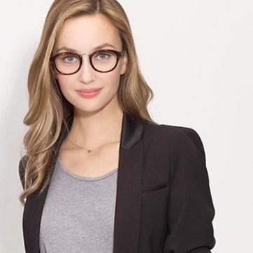 Tortoise Micor -  Acetate Eyeglasses - model image