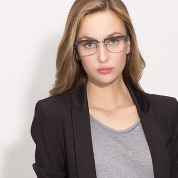Black The Woods -  Designer Acetate Eyeglasses - model image