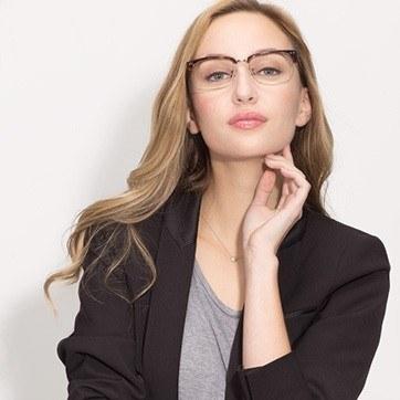 Tortoise The Woods -  Designer Acetate Eyeglasses - model image