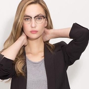 Black Identity -  Acetate Eyeglasses - model image