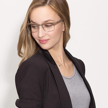 Brown Levy -  Designer Acetate Eyeglasses - model image