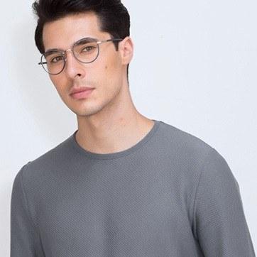 Navy Anywhere -  Designer Acetate Eyeglasses - model image