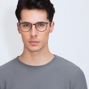 Navy Alpha -  Acetate Eyeglasses - model image