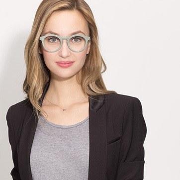 Green Twin -  Acetate Eyeglasses - model image